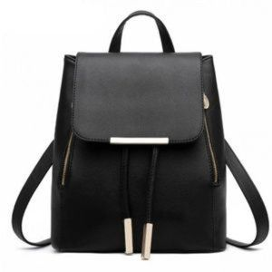 Black Vegan Leather Day pack